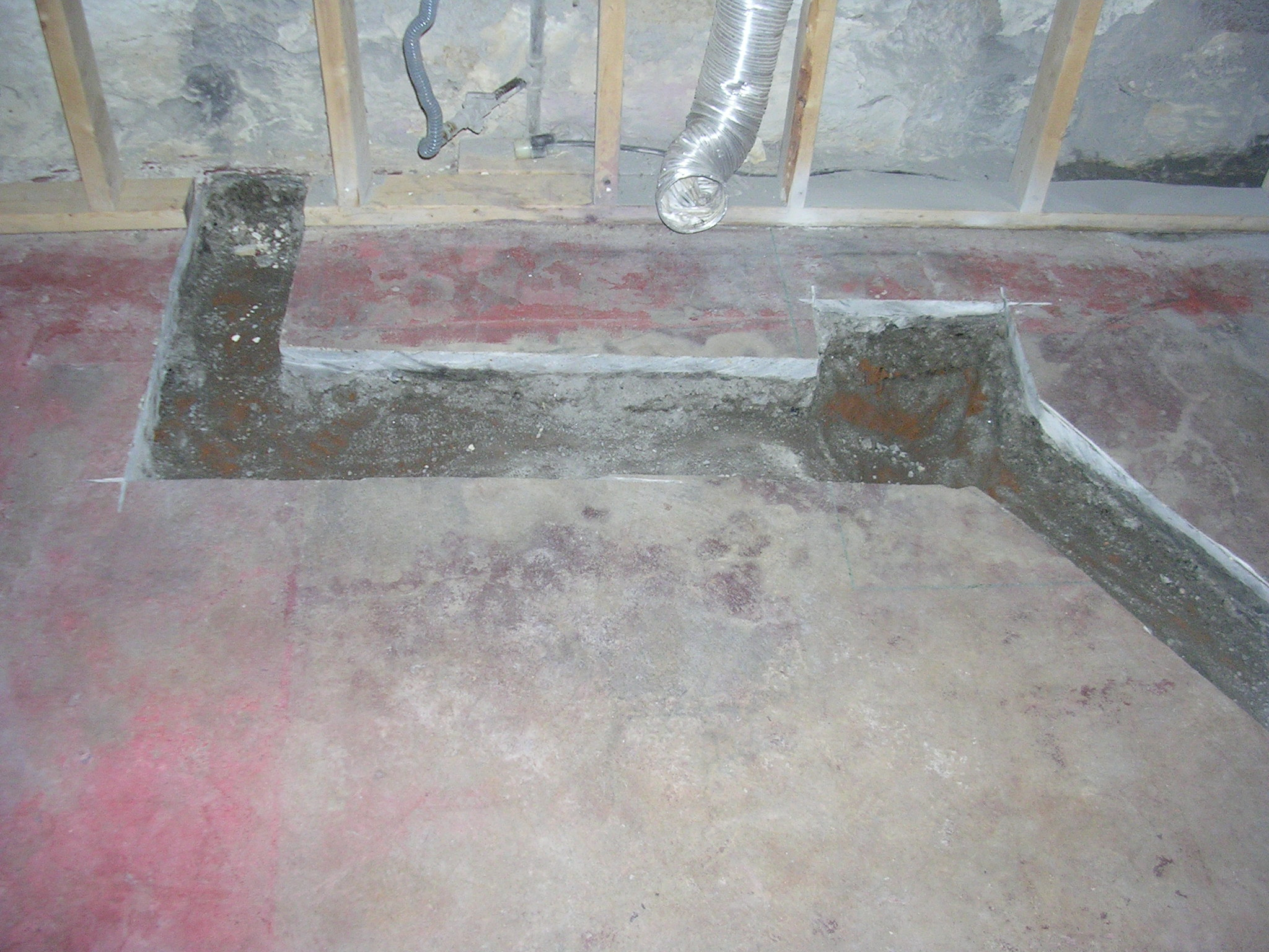 Knez 39 s home for Bathroom in basement without breaking concrete